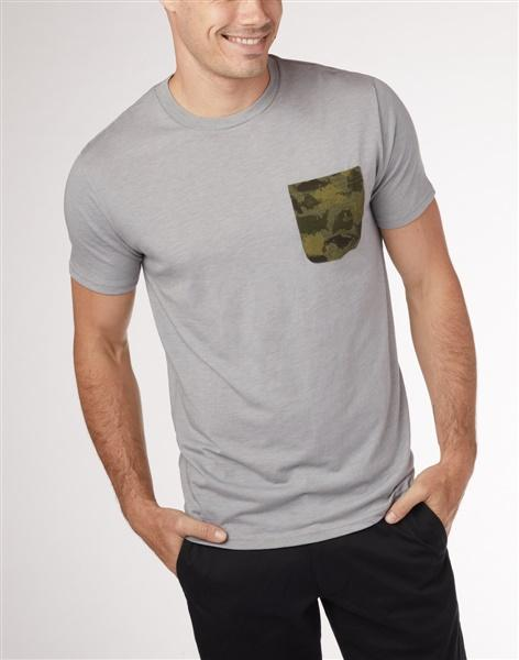 TENTREE Camo Pocket T-Shirt Hi Rise Grey Heather