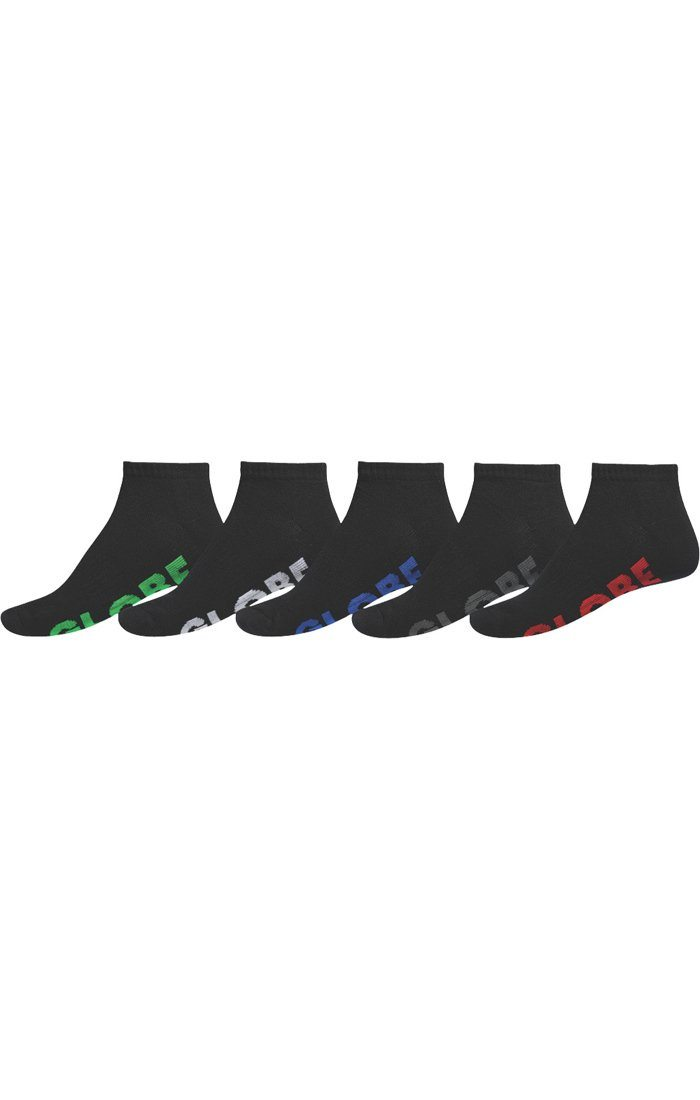 GLOBE Stealth Ankle Socks 5 Pack Black MENS ACCESSORIES - Men's Socks Globe