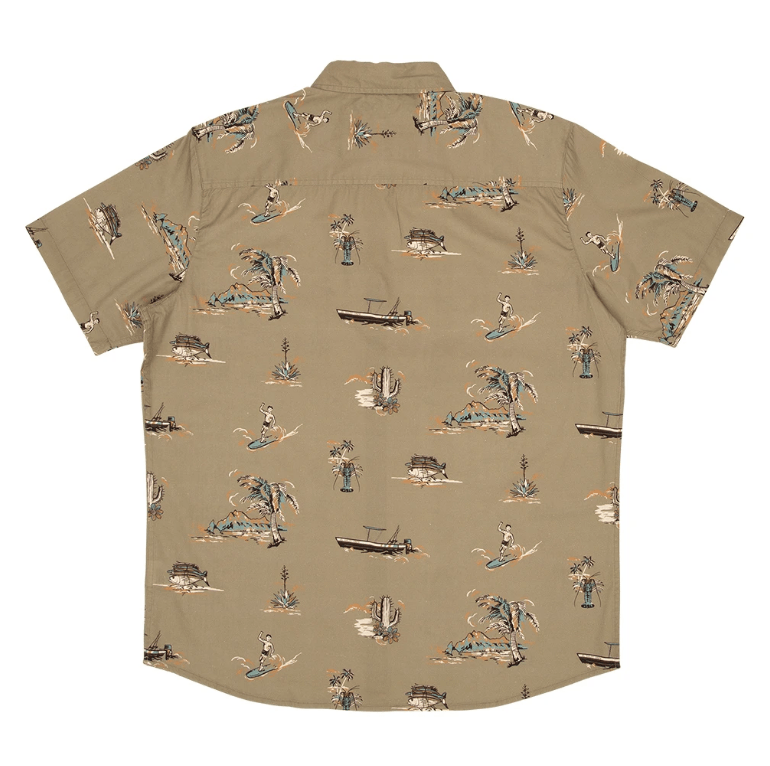 SALTY CREW Pescador S/S Button Up Olive MENS APPAREL - Men's Short Sleeve Button Up Shirts Salty Crew