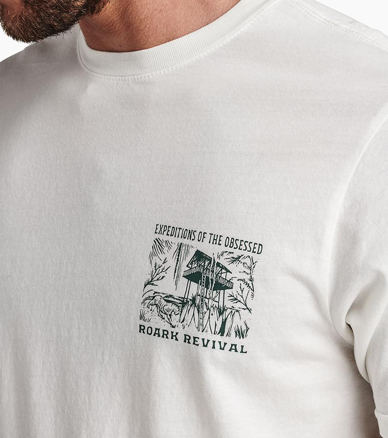 ROARK Expeditions Of The Obsessed T-Shirt White MENS APPAREL - Men's Short Sleeve T-Shirts Roark Revival