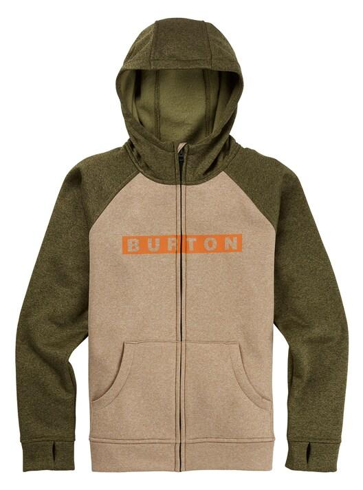 BURTON Oak Full Zip Hoodie Boys Safari Heather KIDS APPAREL - Boy's Zip Hoodies Burton
