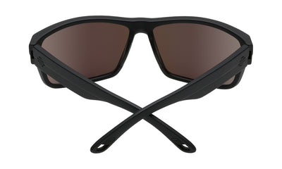 SPY Rocky Soft Matte Black - HD Plus Bronze With Green Spectra Polarized Sunglasses