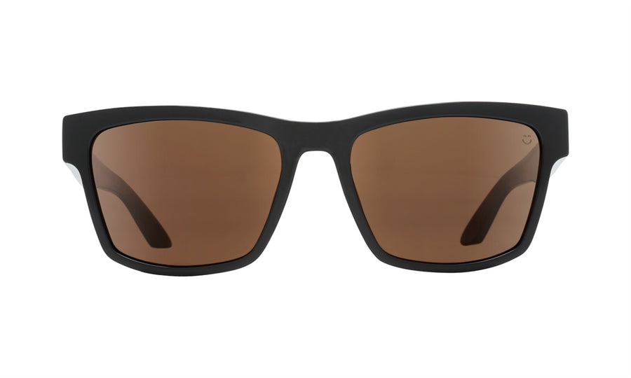SPY Haight 2 Black - Happy Bronze Polarized Sunglasses