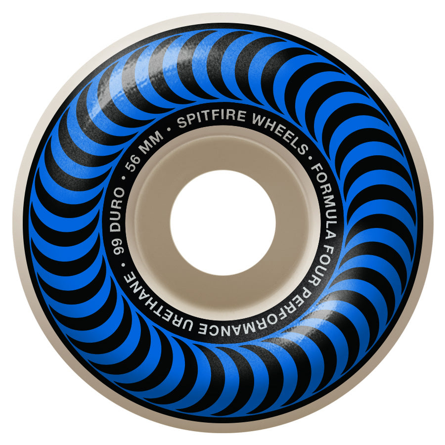 SPITFIRE Formula Four 99D Classics Blue 56mm Skateboard Wheels