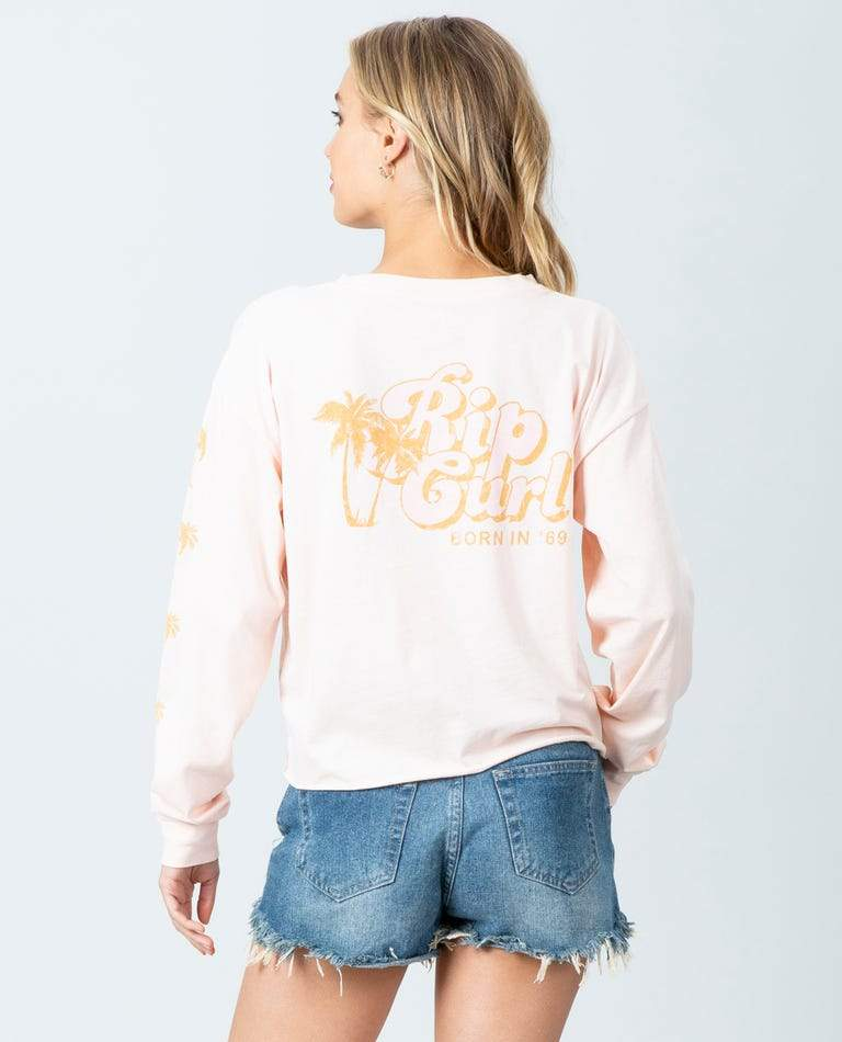 RIP CURL Under The Palms L/S T-Shirt Women's Blush