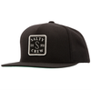 SALTY CREW S Hook Patched Snapback Hat Black MENS ACCESSORIES - Men's Baseball Hats Salty Crew