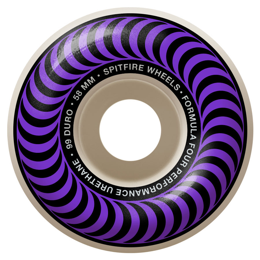 SPITFIRE Formula Four 99D Classics Purple 58mm Skateboard Wheels