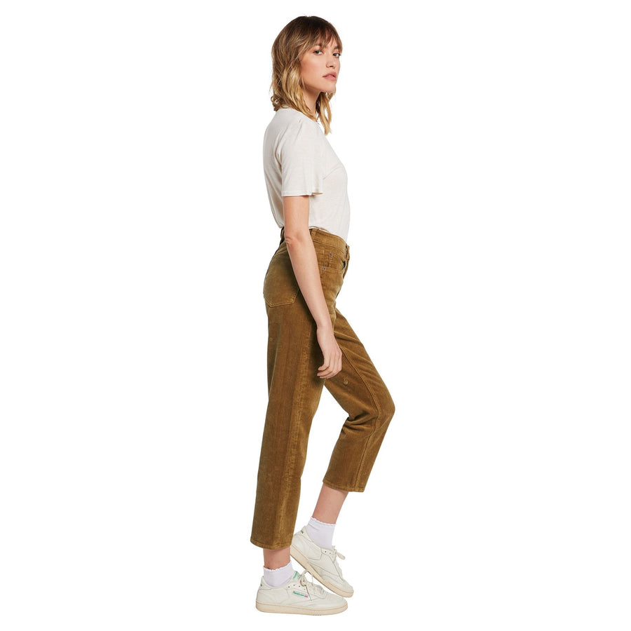 VOLCOM Stoned Straight Pant Women's Vintage Gold WOMENS APPAREL - Women's Pants Volcom