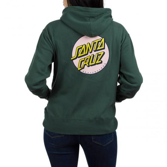 SANTA CRUZ Other Dot Zip Hoodie Women's Alpine Green WOMENS APPAREL - Women's Zip Hoodies Santa Cruz