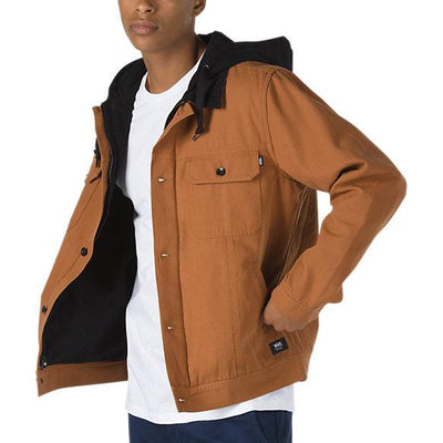 VANS Precept Hooded Trucker Jacket Argan Oil MENS APPAREL - Men's Street Jackets Vans