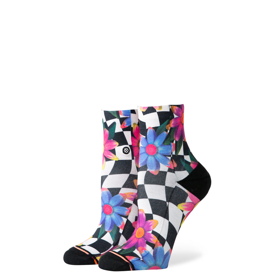 STANCE Crazy Daisy Lowrider Socks Women's Black WOMENS APPAREL - Women's Socks Stance M (6-8.5)