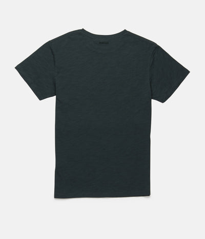 RHYTHM Basic Slub T-Shirt Teal MENS APPAREL - Men's Short Sleeve T-Shirts Rhythm