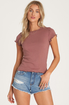 BILLABONG Me Again Baby T-Shirt Women's Washed Plum