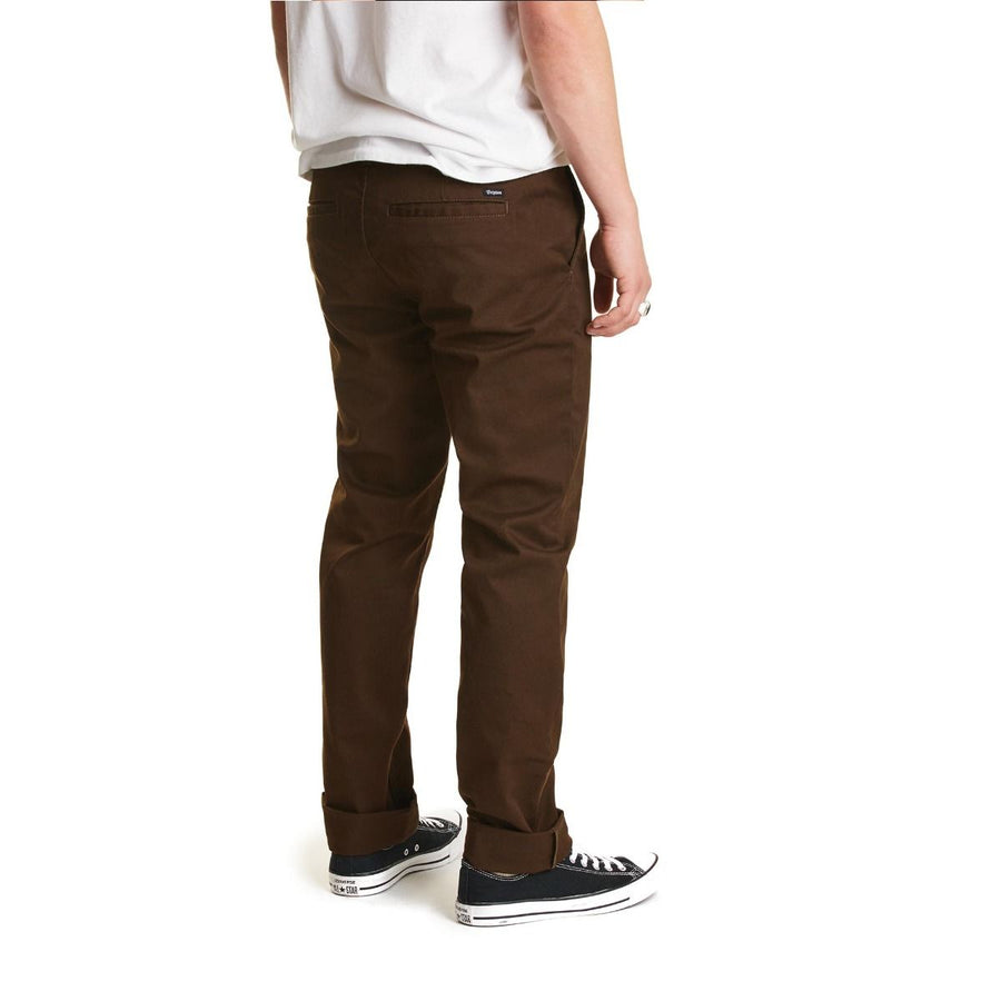 BRIXTON Reserve Chino Pants Brown MENS APPAREL - Men's Pants Brixton