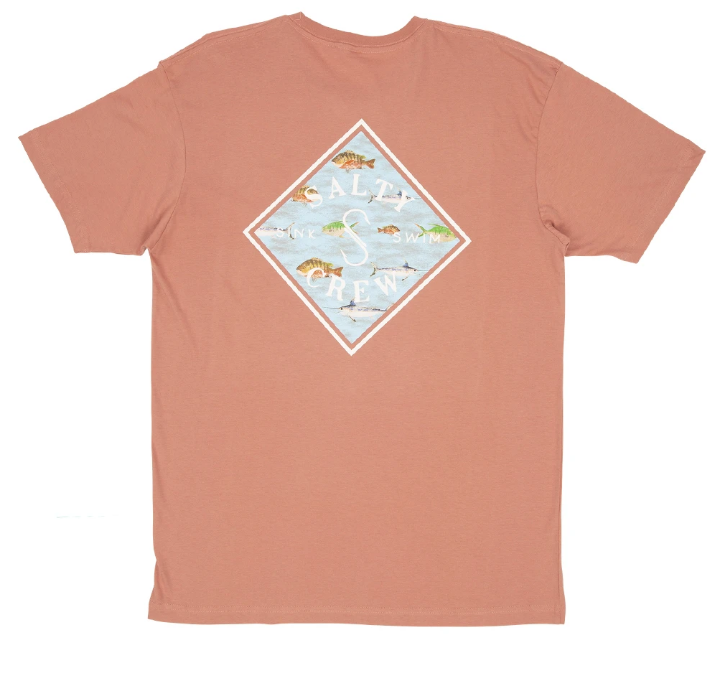 SALTY CREW Tippet Nomad T-Shirt Coral