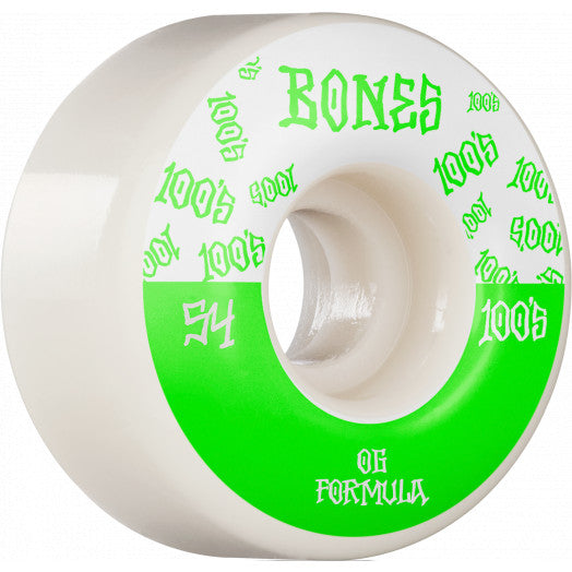 BONES 100's Bones Logo V4 Wides 54mm Skateboard Wheels