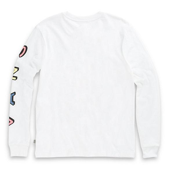 Vans Hard Garden Long Sleeve Boyfriend T-Shirt White WOMENS APPAREL - Women's Long Sleeve T-Shirts Vans S