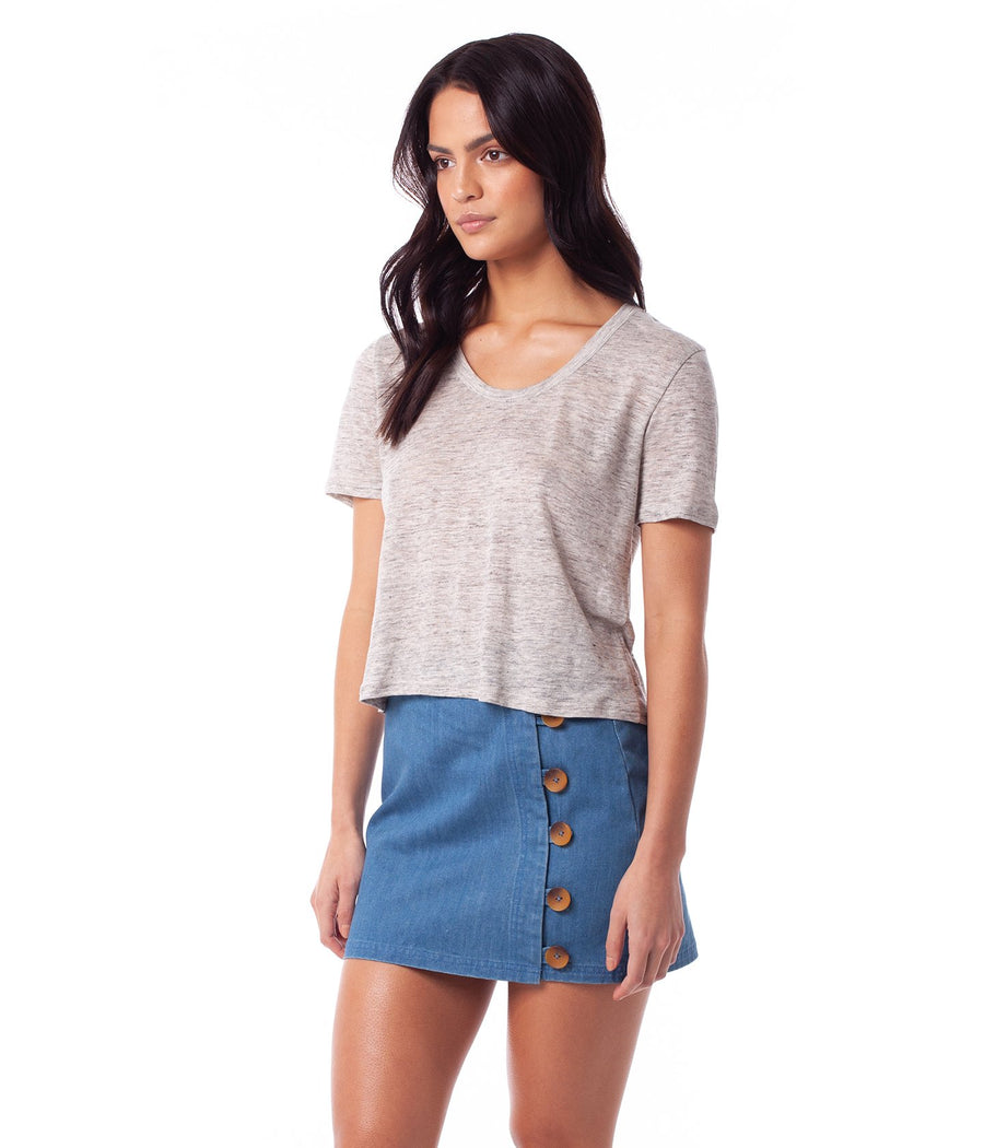 RHYTHM Sunshine T-Shirt Women's Grey Marle
