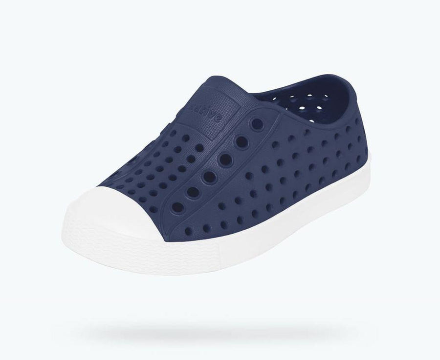 NATIVE Jefferson Junior Shoes Youth Regatta Blue/ Shell White