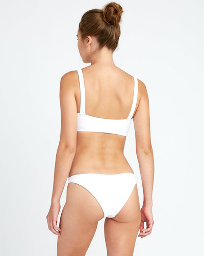 RVCA White Noise Bandeau Bikini Top White WOMENS APPAREL - Women's Swimwear Tops RVCA