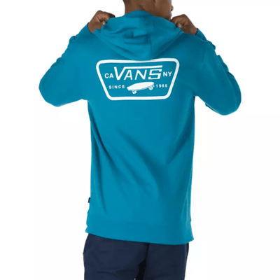 VANS Full Patched Pullover Hoodie Turkish Tile MENS APPAREL - Men's Pullover Hoodies Vans