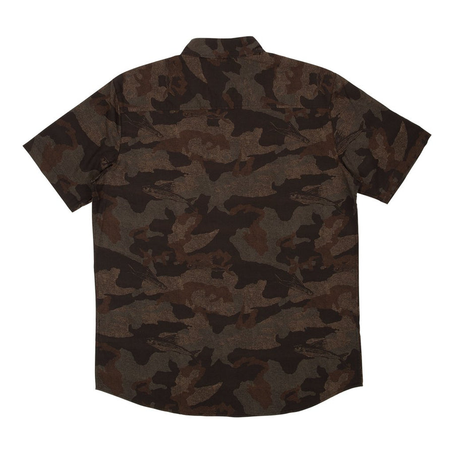 SALTY CREW Flying Fish Camo Button Up Shirt Camo