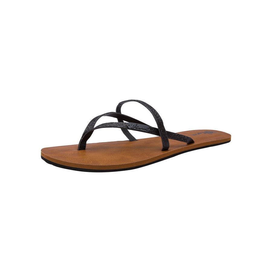 VOLCOM All Night Long Sandals Womens Black Combo FOOTWEAR - Women's Sandals Volcom