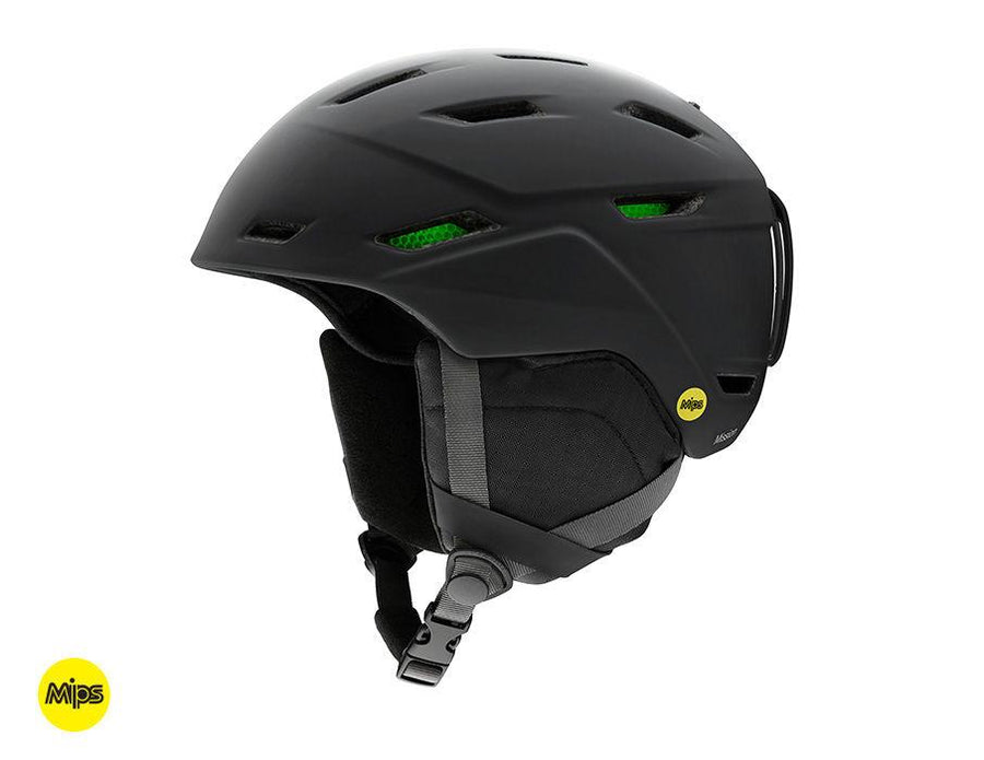SMITH Mission MIPS Snow Helmet Matte Black 2020 SNOWBOARD ACCESSORIES - Men's Snowboard Helmets Smith