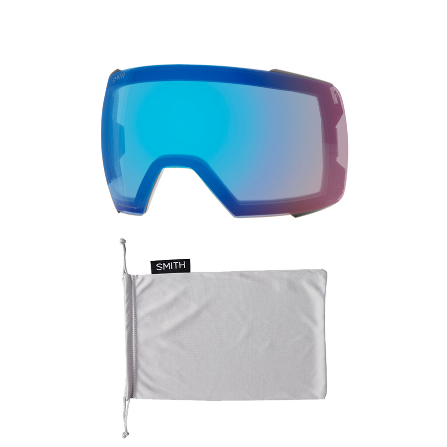 SMITH I/O Mag XL Black - ChromPop Sun Green Mirror + ChromaPop Storm Rose Flash Snow Goggle