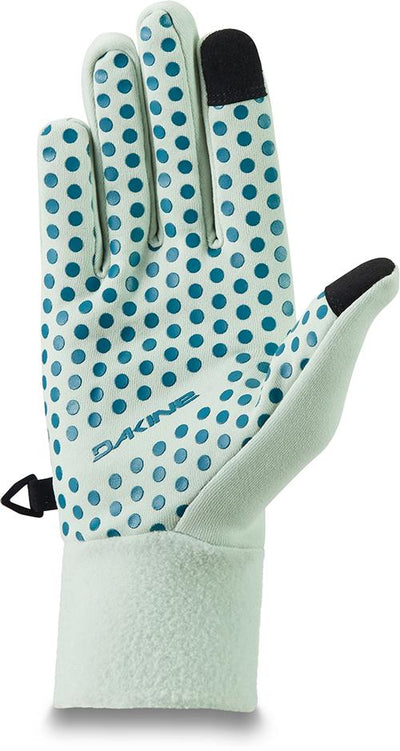 DAKINE Storm Glove Liners Women's Green Lily WINTER GLOVES - Snowboard Glove Liners Dakine