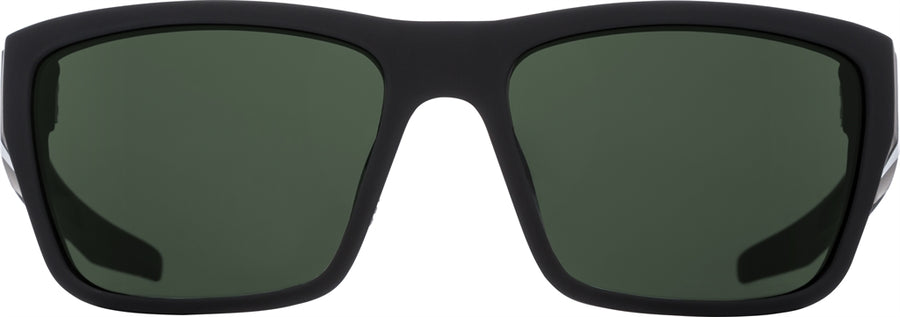 SPY Dirty Mo 2 Soft Matte Black - HD Plus Grey Green Polarized Sunglasses