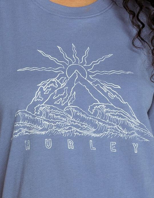 HURLEY Mountain Break T-Shirt Indigo WOMENS APPAREL - Women's T-Shirts Hurley