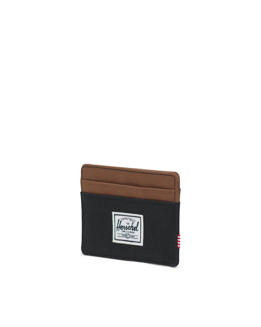 HERSCHEL Charlie Wallet Black/Saddle Brown