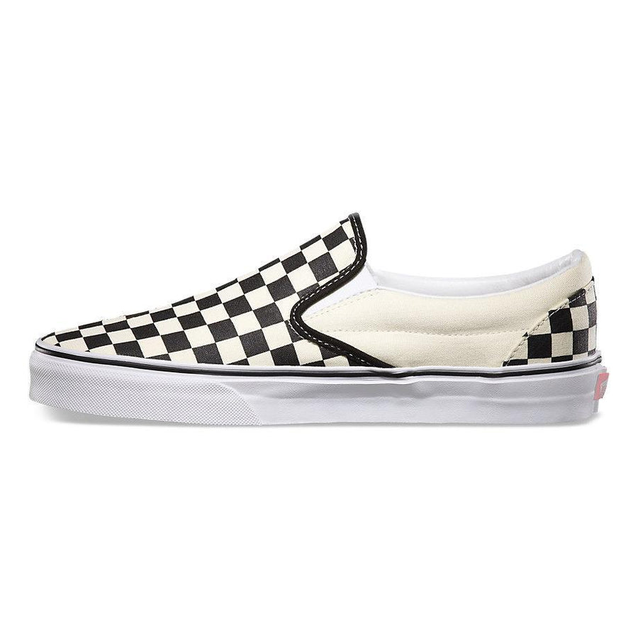 VANS Classic Slip-On Black/White Checkerboard Shoes FOOTWEAR - Men's Skate Shoes Vans 5