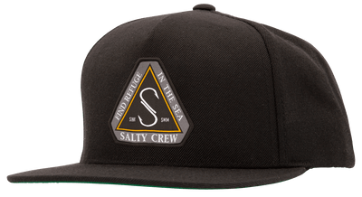 SALTY CREW Triad Snapback Hat Black MENS ACCESSORIES - Men's Baseball Hats Salty Crew