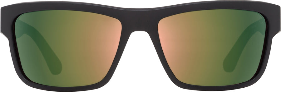 SPY Frazier Soft Matte Black - Happy Rose Polarized w/ Green Gold Spectra Sunglasses