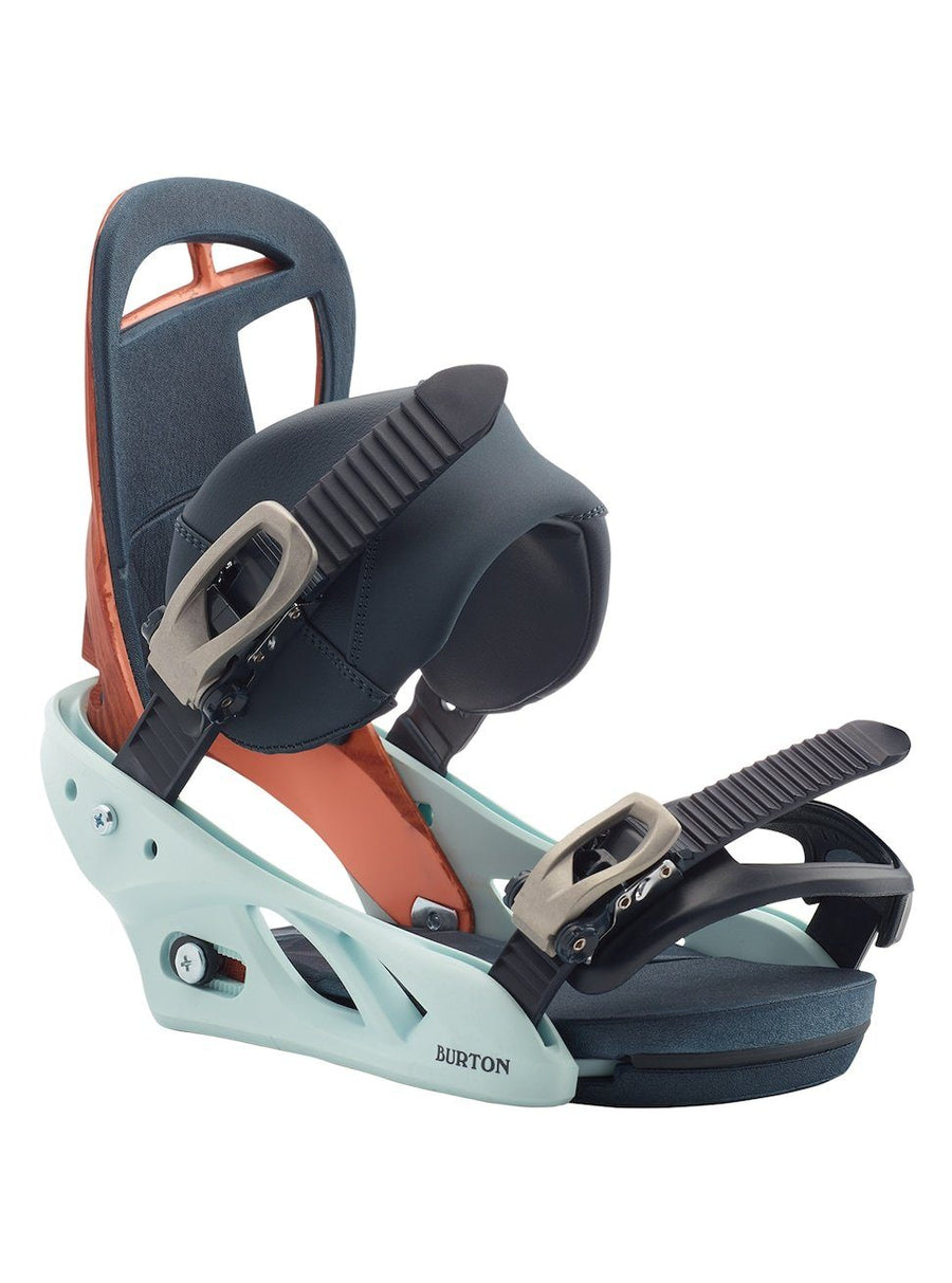 BURTON Scribe Re:Flex Women's Snowboard Bindings Wood Grain Jane 2020 SNOWBOARD BINDINGS - Women's Snowboard Bindings Burton M