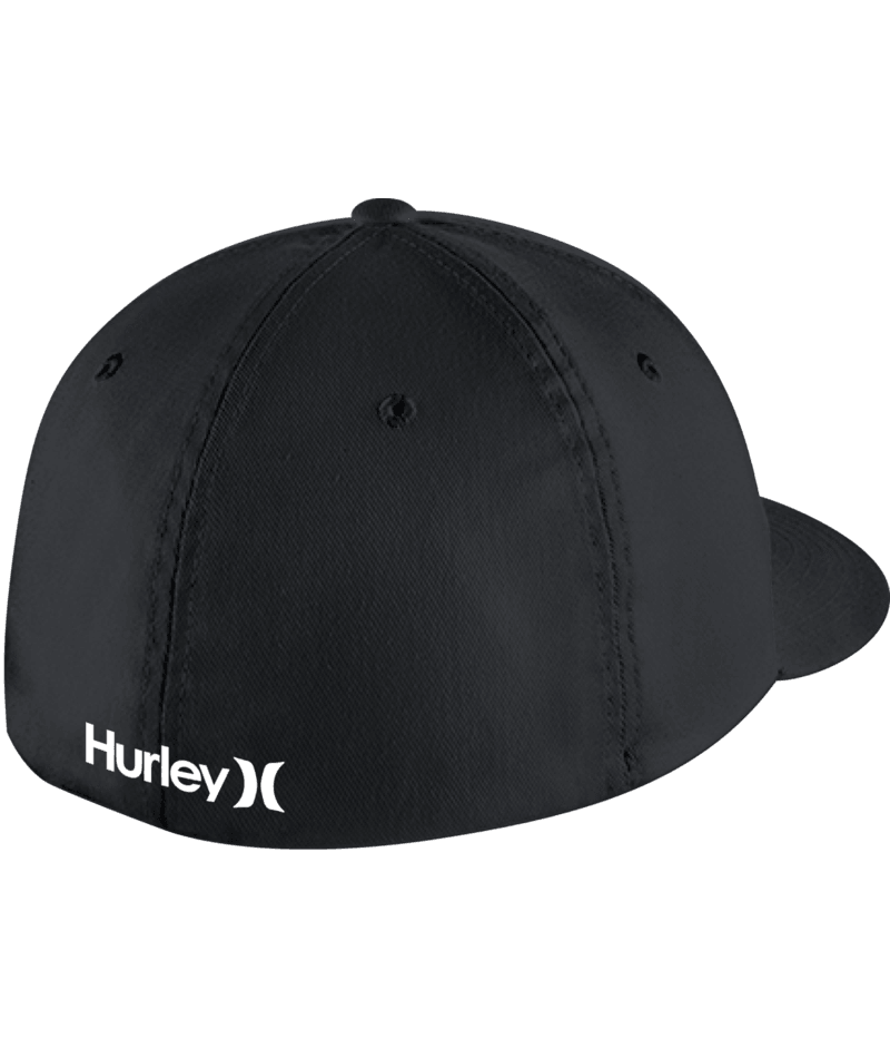 HURLEY Dri-Fit One & Only Flex Fit Hat Black/White