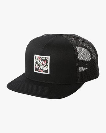 RVCA All The Way Trucker Floral Hat Black Floral