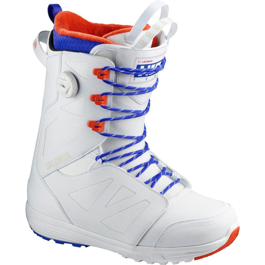 SALOMON Launch Lace STR8JKT Boa Snowboard Boots White 2020 SNOWBOARD BOOTS - Men's Snowboard Boots Salomon