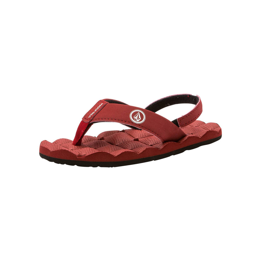 VOLCOM Recliner Little Youth Sandals Crimson FOOTWEAR - Youth Sandals Volcom