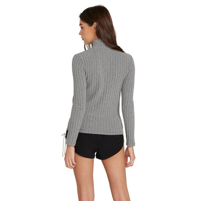 VOLCOM Lived In Lounge L/S Women's Charcoal Heather