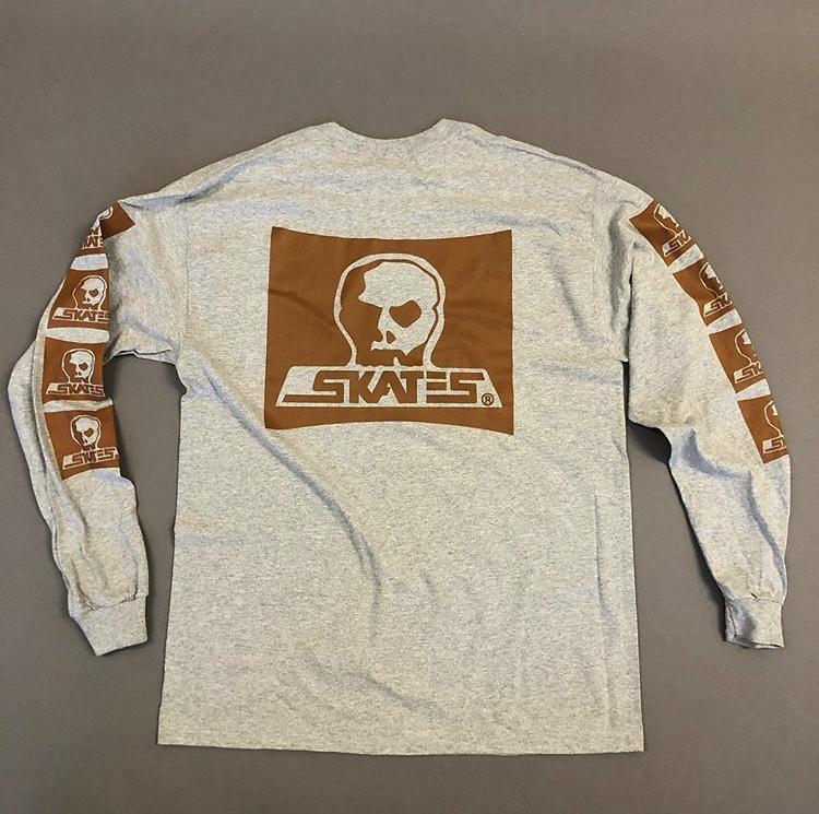 SKULL SKATES Cowboy L/S T-Shirt Grey MENS APPAREL - Men's Long Sleeve T-Shirts Skull Skates