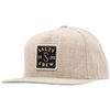 SALTY CREW S Hook Patched Snapback Hat Oatmeal MENS ACCESSORIES - Men's Baseball Hats Salty Crew