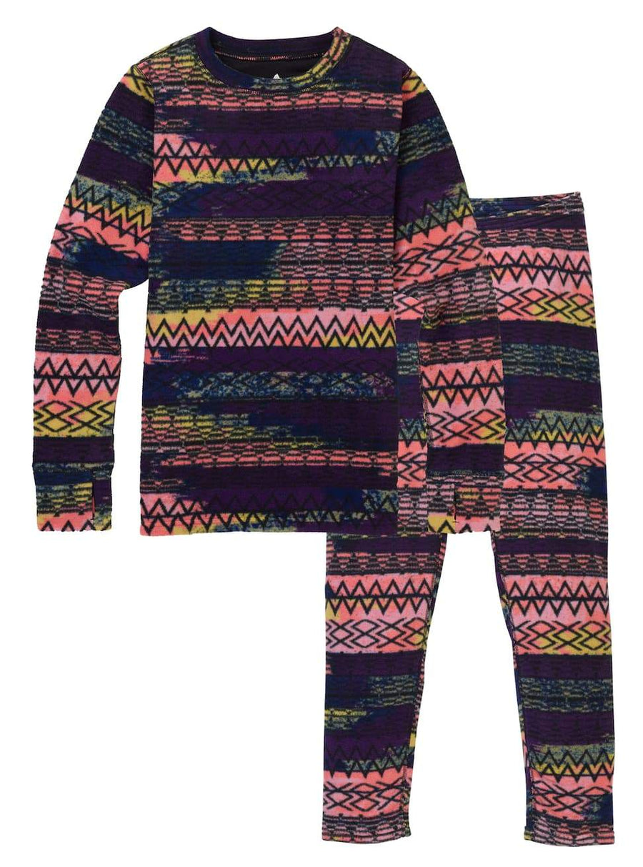 BURTON Fleece Base Layer Set Kids Technicat Dream