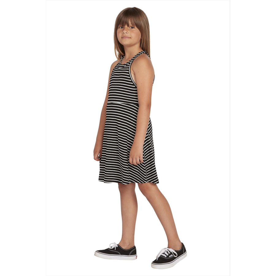 VOLCOM Dayze Dayz Dress Girls Black/White KIDS APPAREL - Girl's Dresses and Skirts Volcom