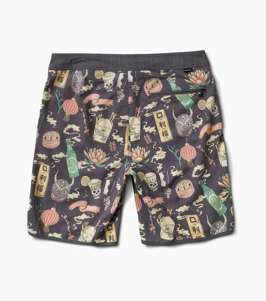 ROARK Chiller Noodle House Boardshorts Black MENS APPAREL - Men's Boardshorts Roark Revival