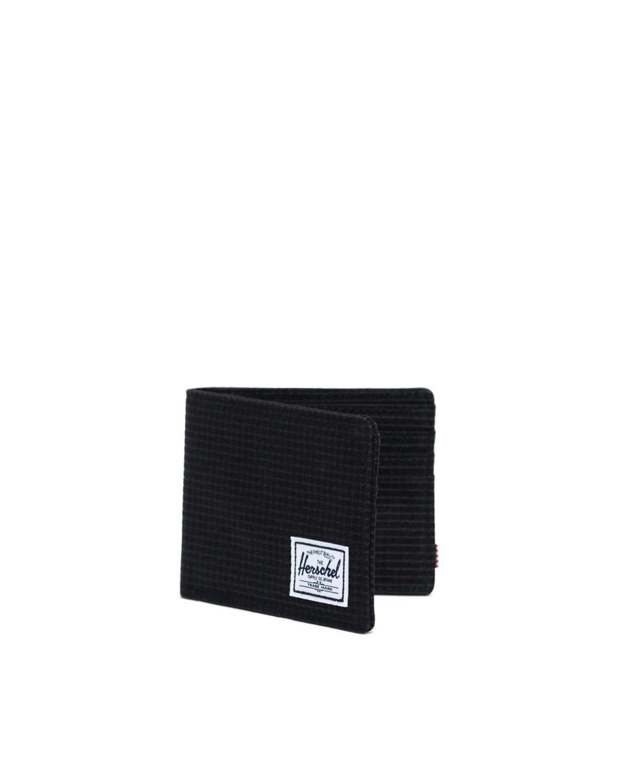 HERSCHEL Roy Wallet Dark Grid/Black