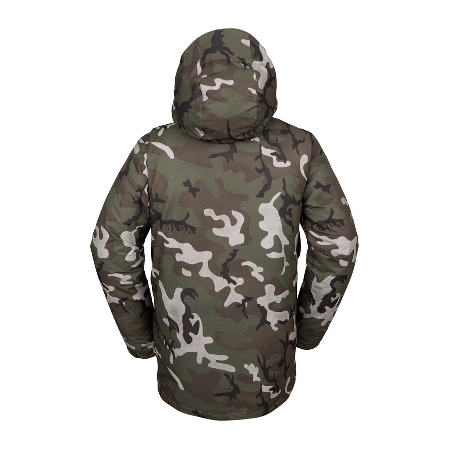 VOLCOM Deadly Stones Insulated Snowboard Jacket Gi Camo MENS OUTERWEAR - Men's Snowboard Jackets Volcom XL