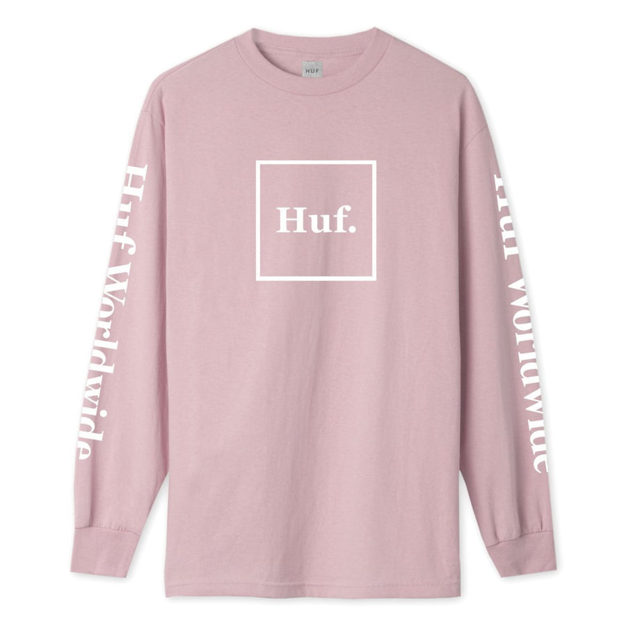 HUF Domestic L/S T-Shirt Coral Pink MENS APPAREL - Men's Long Sleeve T-Shirts huf